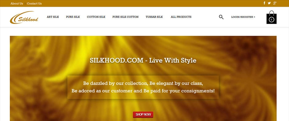 Silkhood Silkhood - An Online Saree Shop - InfoMark GLOBAL - Website design in Varanasi