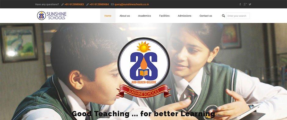 Sunshine-Schools Sunshine school - Where learning is fun - InfoMark GLOBAL - Website design in Varanasi
