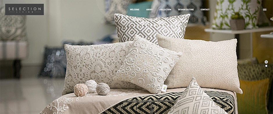 Selection-Living-thumb Selection Living - Quality beddings, designer pillows, table linens, throws and rugs - InfoMark GLOBAL - Website design in Varanasi