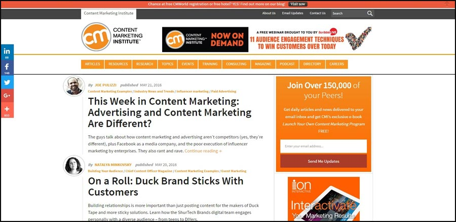 IMG-Content-Marketing-Institute 15 Best Digital Marketing Blogs to update your knowledge about Online Marketing in 2016 - InfoMark GLOBAL - Website design in Varanasi