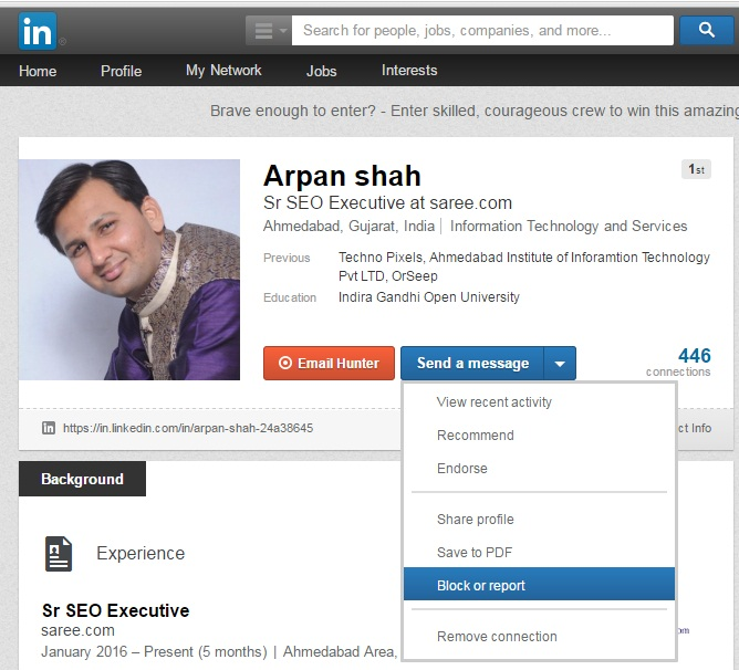 IMG-Block-User-on-Linkedin Track, Find and Remove Fake Followers from Your Social Media Accounts with this Mega Guide - InfoMark GLOBAL - Website design in Varanasi